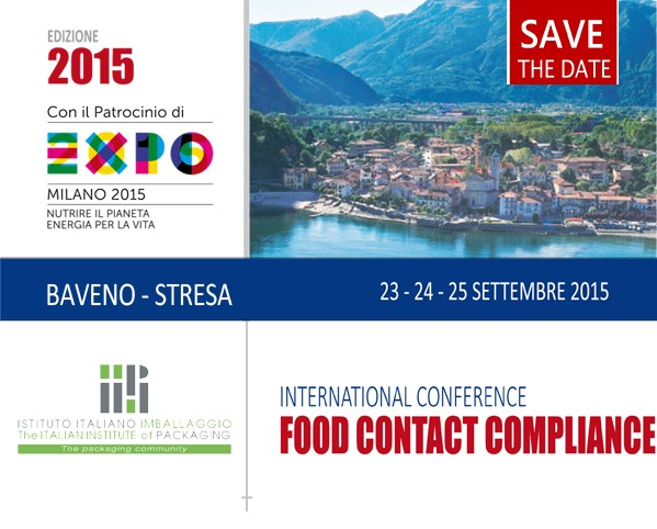 2^ International Conference FOOD CONTACT COMPLIANCE - Baveno, 23-25 settembre 2015