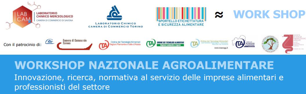 Workshop Nazionale Agroalimentare 17, 18 Marzo, Albenga