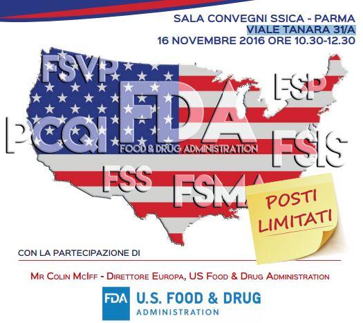 Il nuovo quadro legislativo per l'esportazione dei prodotti alimentari negli Stati Uniti